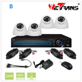 Home Security System with Cable and Power Supply 4 Channel 720P DVR Kit and 20m IR Camera CCTV