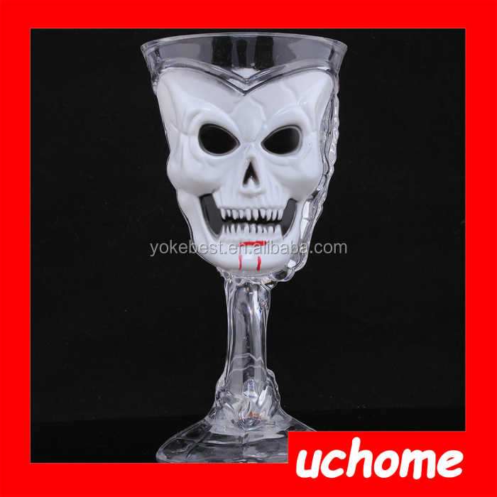 UCHOME Led Cup Flashing Novelty Colorful Party Plastic Flashing Led Skull Cup