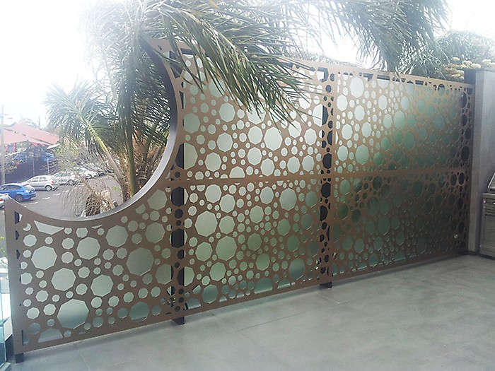Perforated Laser Cut Metal Garden Screens For Decoration