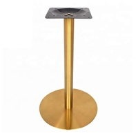 Cheap modern industrial style round stainless steel furniture bar table legs brass table base