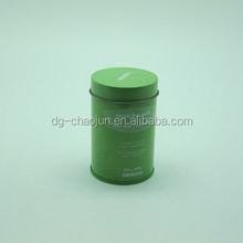 green customized metal tin tea cans hot sale
