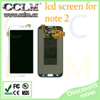low price china mobile phone lcd screen for samsung note 2 , touch screen digitizer assembly for note 2