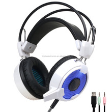 Christmas gift wholesale stereo good quality 7.1 sound track gaming headsets for sales