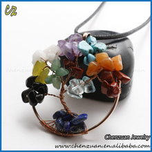 Different types of family birthstone tree necklace jewelry tree of life necklace with clay flower