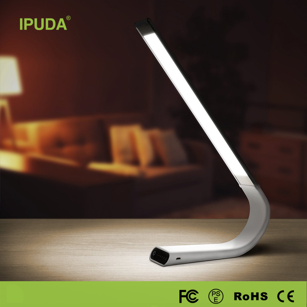 IPUDA dimmable touch electric smart lamp reading lamp office led table lamp with usb port