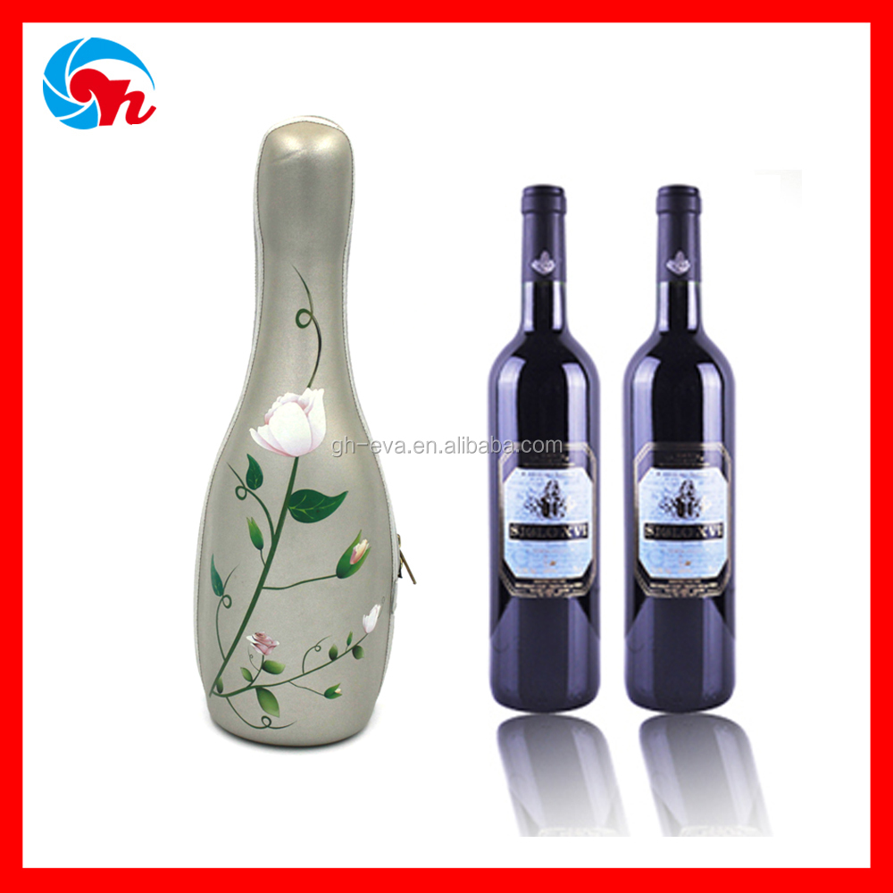 Custom PU high quality eva carrying case for champagne glasses