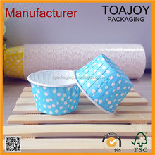 Polka Dots Green Printed Paper Cake Bake Cup Tools, Decoration Paper Case Molds