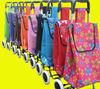 Folding shopping trolley bag with chair,shopping trolley bag with seat