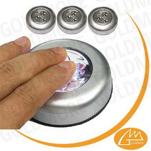 Small Battery Operated 3 Led touch Lights Control Switch,best Mini Touch Stick Tap Sensitive Lamp Light,led Push Lights