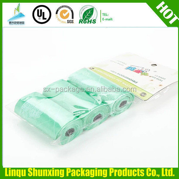 DOG WASTE BAG ON ROLL / colorful dog poop bag wholesale