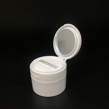 4oz 120ml Plastic white round PP luxury single wall jar for cosmetic powder container with lid