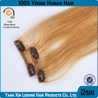 Double weft all colors top sell remy cheap wholesale China Sex Clips Top Quality Hair Extension