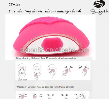 Free Sample Silicone Facial Brush electric face brush picture OEM
