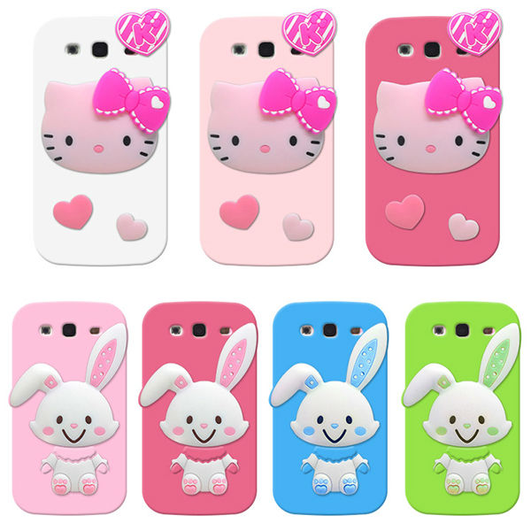 New 3D Cute Cartoon Soft Silicone Case Cover For Samsung Galaxy s3