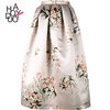HAODUOYI Women Flower Printing Skirt Casual