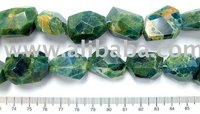 Apatite Faceted Nugget Beads