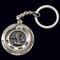 3d cobras key chain, zinc alloy with silver finish