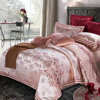 Fashion design yarn dyed jacquard bed linen set