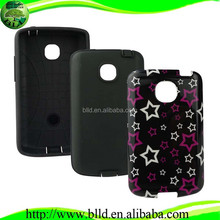 Alibaba express phones accessories distributor PC TPU chinese mobile covers for LG Optimus L1II E410
