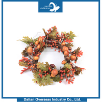 Hot Sale Customized Home Decor custom wholesale christmas wreath red berries