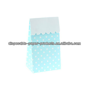 Stylish Party Partyware BLUE POLKADOT PARTY TREAT BOXES Party Bags/Treat Bags LOLLY TREAT FAVOUR BOX Kids party supplies Vintage