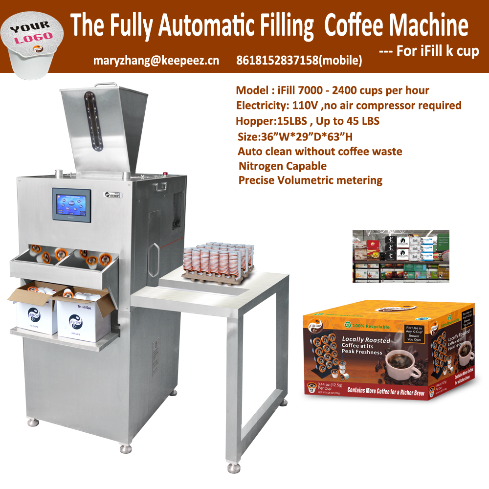 2400cups/hour single sever coffee pod filling sealing machine