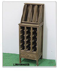Antique Green Handpainted Hang Or Stand Unique Wine Holder