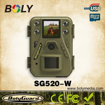 Smallest night vision wifi trail camera SG520 -W with 12Megapixel 720P HD video 85feet detection range