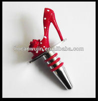 high heel shoes novelty,bar plug,decorative wine bottle stoppers,jinhua