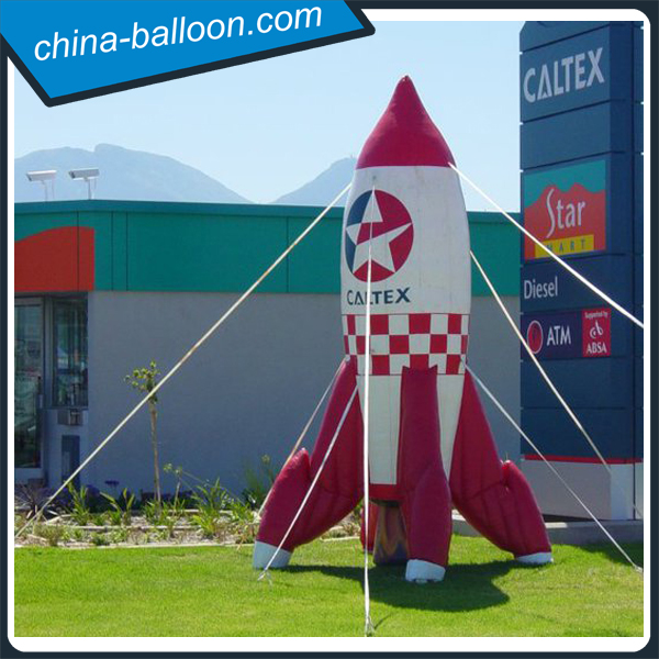 Attractive decorative inflatable rocket ship/ inflatable rocket replica model for sale