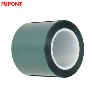 "Polyester / Silicone Single Coated Splicing Tape, 3.3 mil Thick, 72 yds Length, 4"" Width, Green"