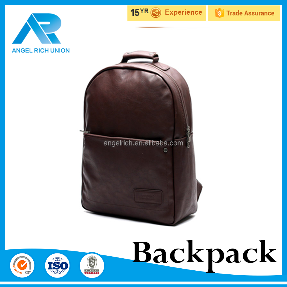Light up backpack for daily use pu leather computer laptop back pack