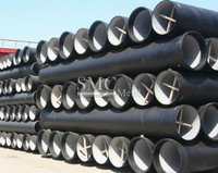 Ductile iron pipes for water.