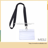 ID Badge Card Holder with Long Neck Strap Band Lanyard for Business, Exhibition and Office