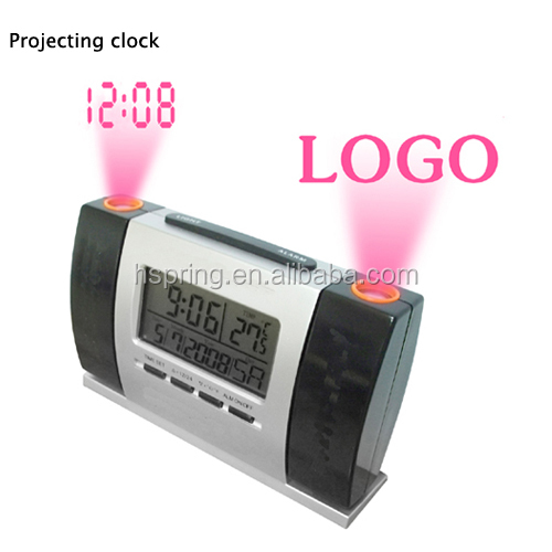 Digital LCD calendar multifunction projection clock countdown