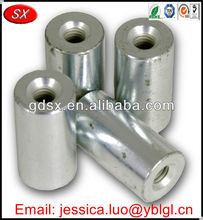 cnc machining parts round standoff nut,white zinc plated steel spacer,long round spacer