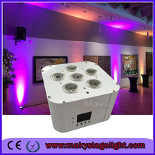 6*18w 6in1 rgbwa uv led rgb wireless ir remote control