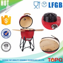 "New Style Ceramic Cookware Easy Assemble 23""Clay Smoker Grill Kamado"