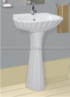 Ceramic Sanitary wash basin with pedestal best quality from India