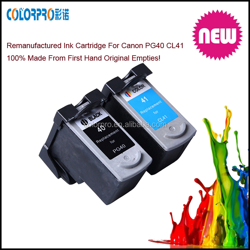 Remanufactured ink cartridge PG40 CL41 for Canon PIXMA iP1180 iP1880 iP1980 iP2580 iP2680 MP145 MP198 MP228