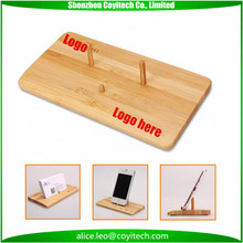 New arrival 2016 bamboo cheap business card holder stand for mobile phones