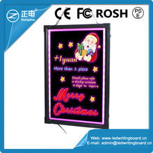 China 2013 products changeable led writing ad menu board indoor illuminated erasable neon sign indoor