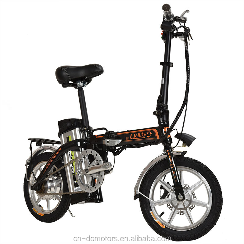 Range 65KM Long Distance 48V 250W Electric Bicycle 14 Inch Portable Mobility Electric Bike