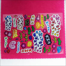 Wholesale customized funny kids puffy stickers,kids cartoon sticker
