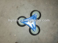 Stair climbing solid rubber wheel for trolley