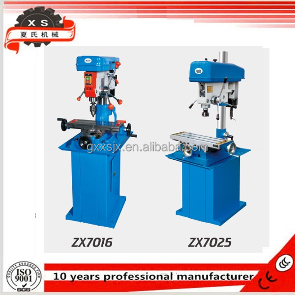 mini drill press Bench drilling and milling machine,bench drilling machine ZX7016 ZX7032