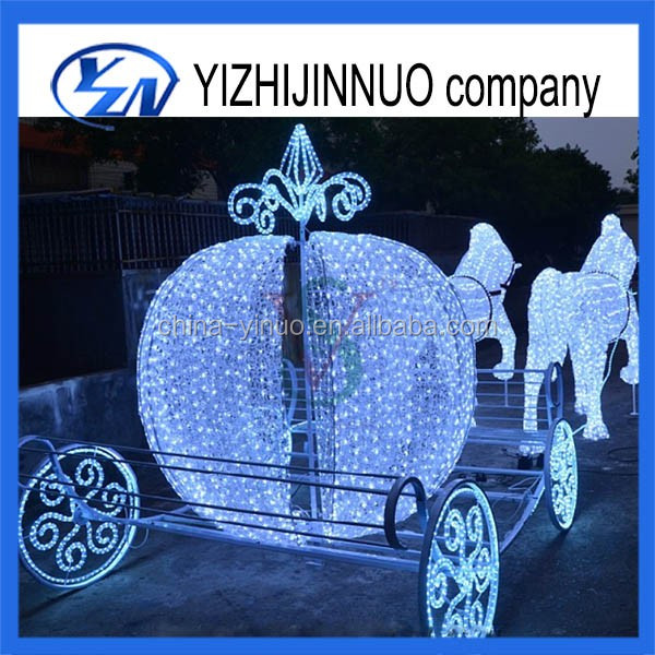 Yizhinuo Christmas Pumpkin Wedding Carriage with Led Lighted cinderella cart for sale