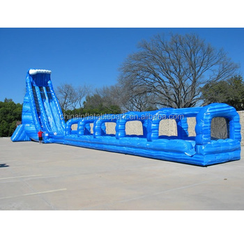 inflatable water slip n slide / inflatable hippo slide