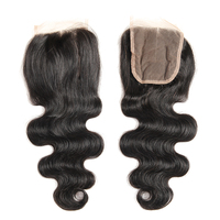 Queens Hair Product Virgin Brazilian Body Wave Lace Closure Piece 5*5