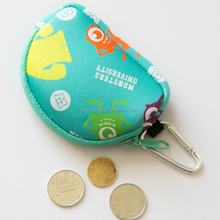 Factory direct selling neoprene mini coin purse with key ring